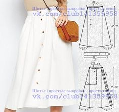 Amazing Sewing Patterns Clone Your Clothes Ideas. Enchanting Sewing Patterns Clone Your Clothes Ideas. Skirt Patterns Sewing, Sewing Patterns Free, Clothing Patterns, Pattern Skirt, Diy Clothing, Sewing Clothes, Fashion Sewing, Diy Fashion, Hijab Fashion