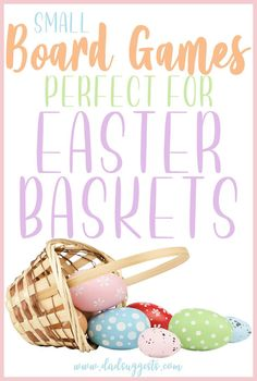 If you're looking for a good family board game to put into an Easter basket, you're probably limited by size. Discover our favorite small board games for kids that are also a good fit for baskets - and feature a focus on cute animals and bright colors that are perfect for Easter. #eastergames #easterbaskets #eastergifts #kidsgames #familygames #boardgames #familygamenight #dadsuggests Best Family Board Games, Board Games For Couples, Family Games, Easter Games For Kids, Games For Teens, Easter Ideas, Easter Crafts, Mother's Day Activities, Easter Activities