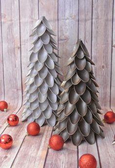 Chic Brocante Blog: DIY: Plastic lepel kerstboom