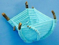 Twig Basket Weaving - Nature craft for kids