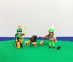 Vintage Playmobil Robin Hood Archer Wild Boar Pig Hunting Huntsman Set Geobra Toy Figures Dolls Pretend Play Early 1990's Kids Room Decor by injoytreasures on Etsy