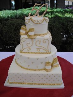 50th anniversary cakes photos pictures | Cassy's Cakes   No white string on top though.