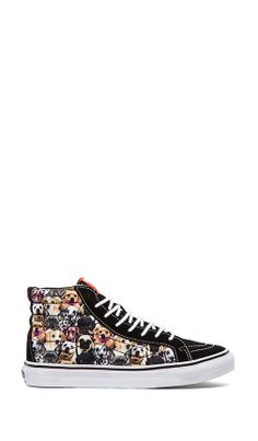Vans Sk8-Hi Slim Sneaker in Dogs...converse needs to make these 4bcca341a