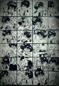 My Hero Academia Episodes, My Hero Academia Memes, Hero Academia Characters, My Hero Academia Manga, Anime Couples Drawings, Anime Couples Manga, Cute Anime Couples, Boku No Hero Uraraka, Deku Boku No Hero