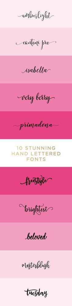 10 Stunning Hand Lettered Fonts on Creative Market to freshen up your brand & blog design! Calligraphy font, hand lettered font, feminine font, pretty font http://meganmartin.net/top-10-favorite-stunning-little-hand-lettered-fonts/?utm_campaign=coschedule&utm_source=pinterest&utm_medium=Megan%20Martin%20Creative%20%7C%20Entrepreneur%2C%20Business%20Blogger%2C%20Stylist%20and%20Brand%20Designer%20&utm_content=My%20Top%2010%20Favorite%20Stunning%20Little%20Hand%20Lettered%20Fonts