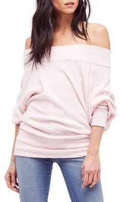 8afdfec204b7 Slouchy dolman sleeves and off-the-shoulder styling make this comfy  triblend top a pitch-perfect homage to style.