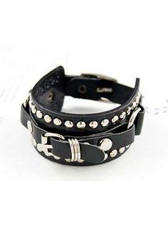 Huismerk Unisex Armband Zwart