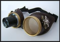 Hive Steampunk Goggles  Wasp Eye lens Large by OntheWingsofSteam, $47.99