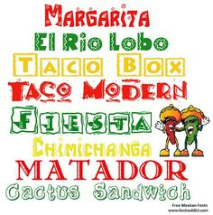 Buenos días ...  Free Mexican Fonts available at www.fontsaddict.com  Follow this link to view all our Mexican Fonts - http://www.fontsaddict.com/category/31-Mexican