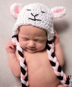 Look what I found on #zulily! White Fluffy Sheep Earflap Prop Beanie by Maddie's Mad Hatters #zulilyfinds