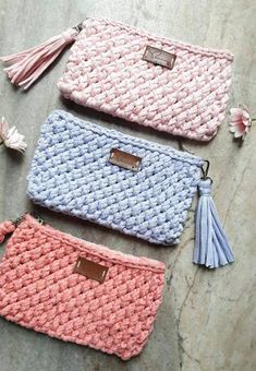 The most beautiful Crochet basket and straw models Crochet Wallet, Free Crochet Bag, Crochet Purses, Crochet Baby, Knit Crochet, Crochet Bag Tutorials, Crochet For Beginners, Crochet Projects, Crochet Stitches