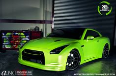 Green & Mean Nissan GTR completed by xclusiv autosports feauting d2 concave forged wheels. Love the wild green color with black combo as...