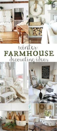 Great farmhouse winter decorating ideas, tips, and inspiration