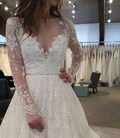 Haley Paige long sleeve wedding gown
