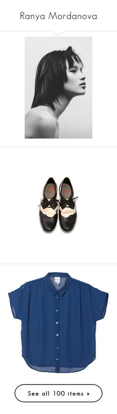 """Ranya Mordanova"" by azaliya ❤ liked on Polyvore featuring ranya mordanova, shoes, oxfords, flats, zapatos, black flat shoes, oxford flats, black oxford flats, black flats and oxford shoes"