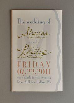 Wedding Paper Goods - Programs