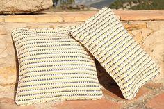 SLOWERS, Organic cotton cushions, triangles print