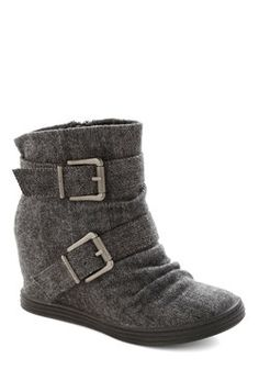 Roastery Visit Wedge in Grey, #ModCloth