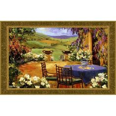 Countryside Terrace Tapestry Wall Hanging