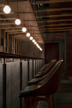 Neri&Hu designs dramatic light-filled atrium for Shanghai restaurant - All For Decoration Bar Design Awards, Interior Design Awards, Bar Interior, Interior Design Magazine, Restaurant Interior Design, Restaurant Interiors, Restaurant Lighting, Restaurant Tables, Cafe Restaurant