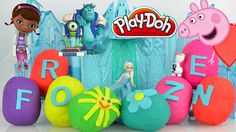 peppa pig play doh monster surprise eggs mcstuffins frozen