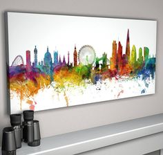 london skyline cityscape #two by artpause | notonthehighstreet.com