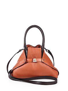 Akris Ai+Small+Bicolor+Messenger+Bag