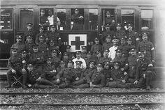 Tren ambulancia de la Cruz Roja Británica durante la I Guerra Mundial