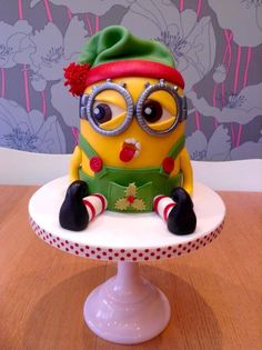 This fantastic festive Minion cake was donated to our Christmas Fayre in the Guess the Weight competition.