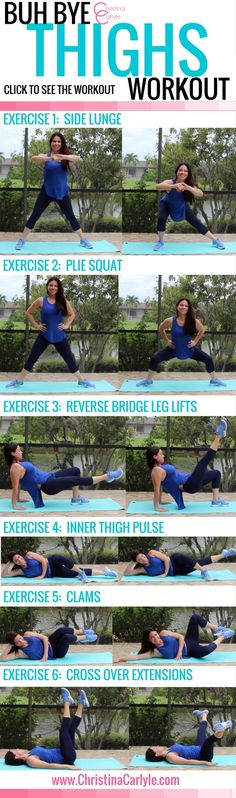 Workout Thigh Exercises that burn thigh fat. These calorie burning thigh exercises make up a fun thigh fat burning workout for women that you can do at home. - The Best Inner Thigh Exercises Yoga Fitness, Quotes Fitness, Fitness Motivation, Health Fitness, Workout Fitness, Video Fitness, Exercise Motivation, Abs Quotes, Health Diet