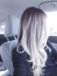 Platinum ash blonde balayage