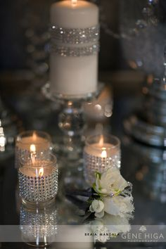 Wedding Sparkly Votives