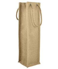 Natural Jute Wine Bags With Rope Handles – 5 Pack - $13.6 | onlinefabricstore.net