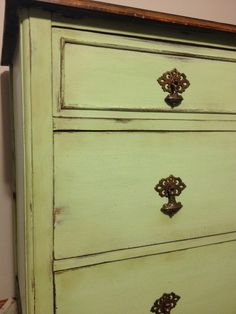 Antique Dresser - Refinished in CeCe Caldwell Chalk & Clay Paints in custom mix.https://www.facebook.com/Laparisiennevintagechic