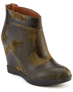 Donald J Pliner Chez Suede Wedge Ankle Boot Green