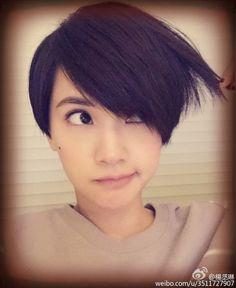 楊丞琳 Rainie Yang Pixie Cut Color, Cut And Color, Short Pixie, Short Hair Cuts, Pixie Styles, Short Hair Styles, Short Textured Bob, Comic Face, Asian Hair
