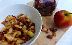 gebakken appelstukjes met dadel en noten