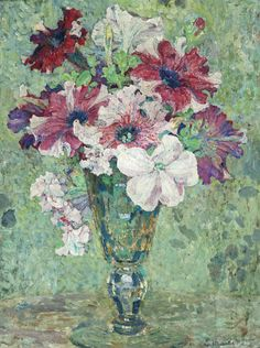 Edgard Maxence (1871-1954) Summer blooms in a vase (35 x 27 cm)