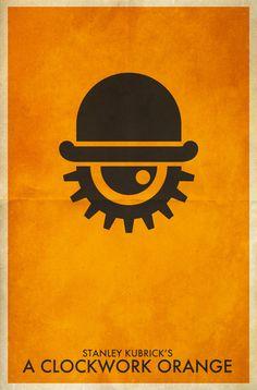 Stanley #Kubrick, A Clockwork Orange, #minimalist posters
