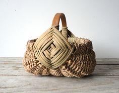 handwoven egg basket