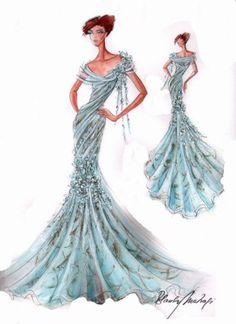Blanka Matragi – sketch of dresses | Luxussilk