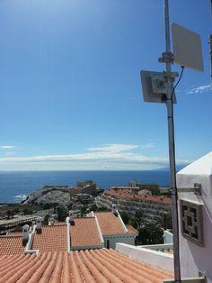 Trabajos #WiFiCanarias de conectividad en un #Hotel en el Sur de #Tenerife