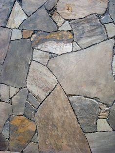 Drystone patio of TN sandstone