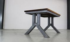 The Engineering desk. A solid and chunky industrial design desk that is beautifully engineered.
