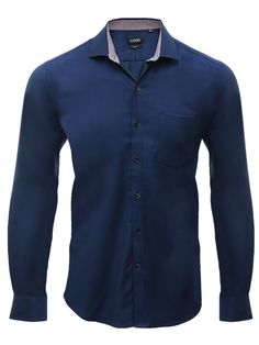 Add style to your formal wardrobe with this dark blue shirt by Code. Featuring full sleeves and collared neck, this shirt looks classy with its immaculate finish and fine fabric. Pair it with biege trousers and shoes for a high on confidence look