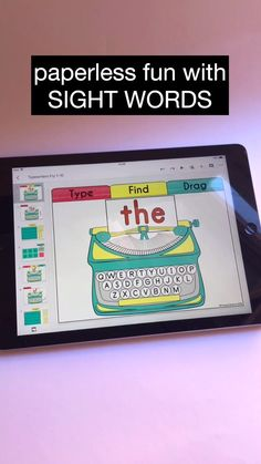 Save your time and prep. Get tons of slides to practice sight words, phonics, CVC and CVCe words. Kindergarten Activities, Classroom Activities, Kindergarten Sight Words, Guided Reading Activities, Teaching Sight Words, Reading Tutoring, Phonics Reading, Sight Word Practice, Reading Intervention