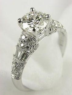 Antique Style Diamond Bridal Rings Set sistas-wedding