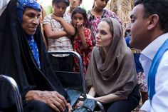In Baghdad, Angelina Jolie visits with displaced Iraqi families and calls out to international leaders to help these refugee families and people.