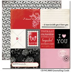 words of love Journaling Cards paper Carta Bella
