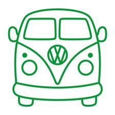 Volkswagen Bus, Vw Camper, Silhouette Cameo, Deco Surf, Bus Drawing, Bus Art, Easy Arts And Crafts, Cutting Tables, Vector Clipart